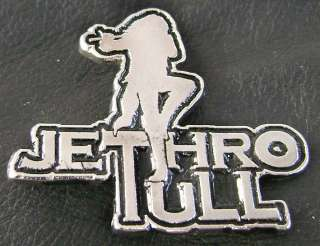 JETHRO TULL METAL PIN BADGE IAN ANDERSON YES KING CRIMSON CAMEL