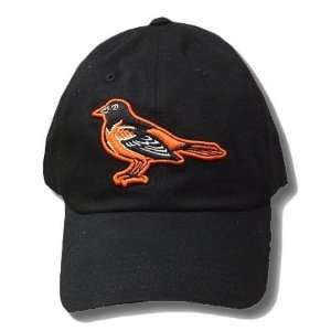 MLB BALTIMORE ORIOLES BIRDS BASEBALL BLACK HAT CAP ADJ