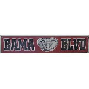 Alabama, BAMA BLVD, Street Sign (Elephant) Automotive