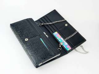 new fashion lady women long purse clutch wallet bags PU handbag with
