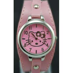 Hello Kitty Pink Studs and Chains Wide Band Watch