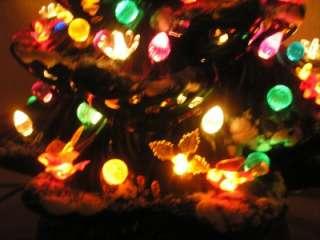 ATLANTIC MOLD MUSICAL 19 CERAMIC CHRISTMAS TREE LIGHTED UNIQUE
