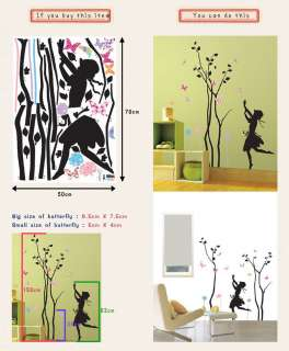 TREE & GIRL Kids Room Decals Wall Art Deco Sticker PS76