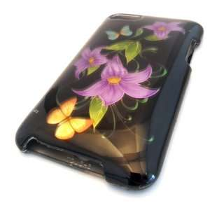 Apple iPOD TOUCH ITOUCH LOTUS PURPLE TEAL BUTTERFLY BLACK