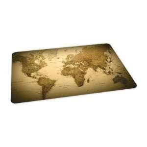 World Map Design Chairmat Size 46 x 60 Rectangular