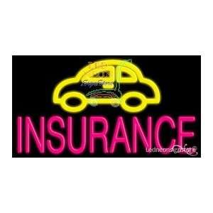 Car Insurance Neon Sign 20 inch tall x 37 inch wide x 3.5 inch deep