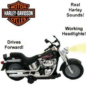 Harley Davidson Black Powered FAT Boy Motorcycle