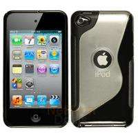 Black Soft TPU Hard Back Case Cover for ipod Touch 4