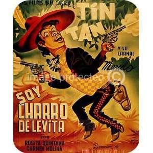 Soy charro de Levita Vintage Mexican Cinema MOUSE PAD