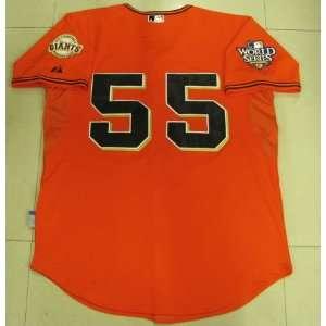 San Francisco Giants #55 Tim Lincecum Orange Jersey