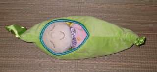 MANHATTAN TOY Plush BABY DOLL Sleeping LOVEY SWEET PEA POD