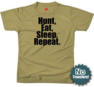 Hunt Eat Sleep funny hunting mens hunter NEW T shirt