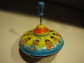 Vintage Tin Spinning Top 10 Little Indians Ohio Art USA