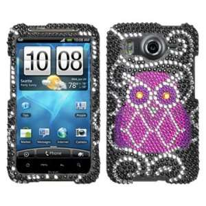 Owl Beling Diamante Protector Cover Case for HTC Inspire