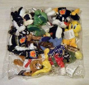 MINT Vtg Lot 12 Looney Tunes Mini Bean Bag 6 Plush Warner Brothers