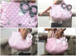Leather Hello Kitty shoulder bag tote Travel Shopping Handbag