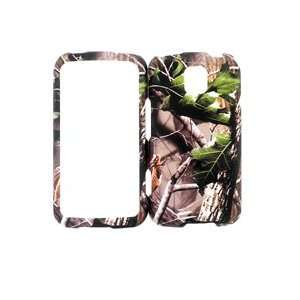 METRO PCS LG OPTIMUS M GREEN LEAF CAMO CAMOUFLAGE SNAP ON