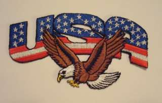 USA American BALD EAGLE & FLAG Embroidered PATCH