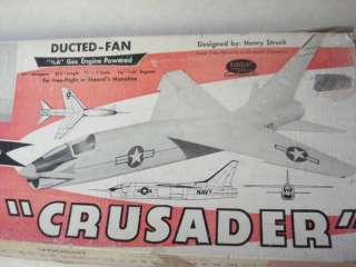 BERKELEY * VOUGHT F8U 1 CRUSADER * F/F MODEL AIRPLANE KIT**