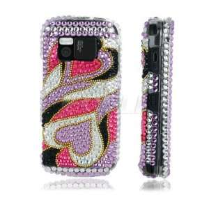 HEARTS 3D CRYSTAL DIAMOND BLING CASE FOR NOKIA N97 Electronics