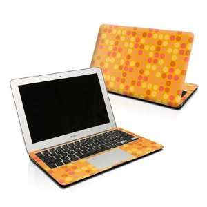 Big Dots Orange Design Skin Decal Sticker for Apple