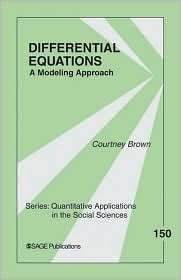 Differential Equations A Modeling Approach (Quantitative Applications
