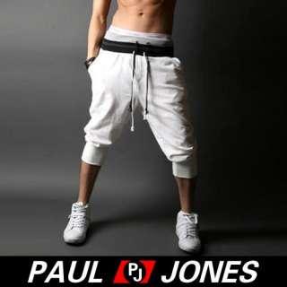 NWT Mens casual slim fit sporty capri pants/shorts