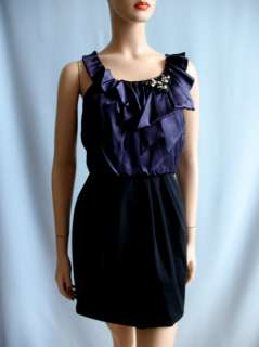 BCBGMAXAZRIA BCBG Max Azria Black Silk Mini Dress Size Sz L NWT