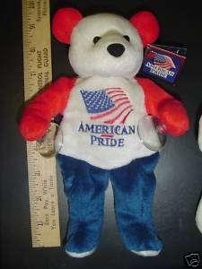 AMERICAN PLUSH TEDDY BEAR USA FLAG PATRIOTIC BRAND NEW