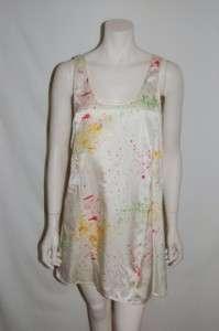 Rory Beca Ivory Paint Splatter Dress  NWT$290  S