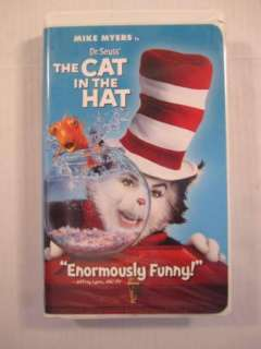Dr. Seuss Cat in the Hat Childrens VHS Tape Mike Myers 096896247834