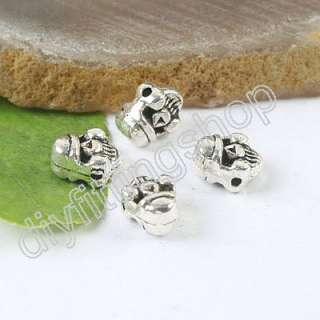 40pcs Tibetan silver Belial face spacer beads H0163