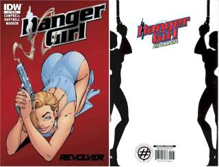 Scott Campbell RARE DANGER GIRL smoking gun #2 RED FOIL REVOLVER #1