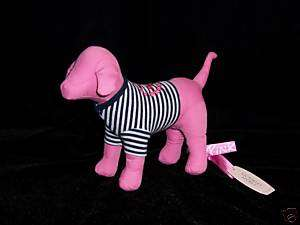 NWT Plush Victorias Secret Pink Dog Striped Shirt *2