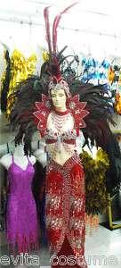 Da NeeNa C002 Vegas Showgirl Samba Headdress Costume Set