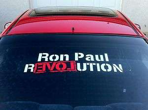 Ron Paul REVOLUTION large car truck vinyl window sticker decal liberty