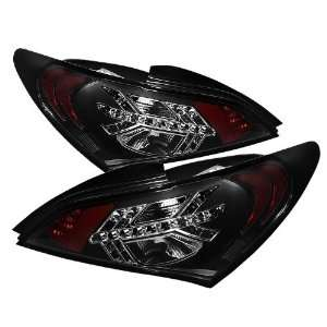 2010 2011 2012 Hyundai Genesis 2Dr LED Tail Lights   Black: Automotive