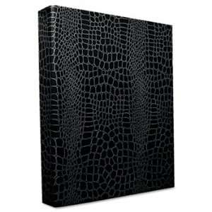 Crocodile Embossed Ring Binder, 1 Capacity, Black: Camera & Photo