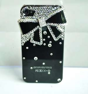 Luxury Diamond Crystal Bowknot Hard Case Cover Skin For iPhone 4 4G 4S