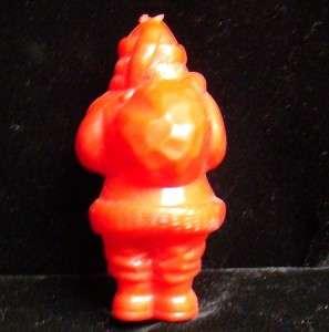 Vintage Plastic Santa Claus Father Christmas celluloid Ornament