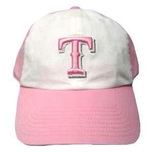MLB TEXAS RANGERS PINK GIRL WOMEN LADY HAT CAP NEW ADJ