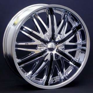 Wheel + Tire Packages 22 inch Triple chrome rims V830