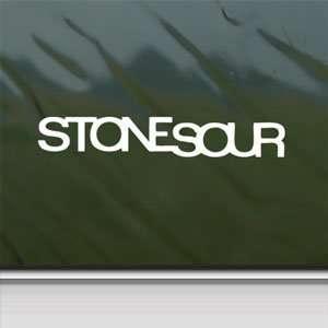 Stone Sour White Sticker Metal Rock Band Laptop Vinyl