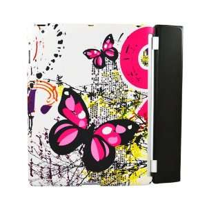 Two Pink Butterflies Text Smart Back Cover for Apple iPad
