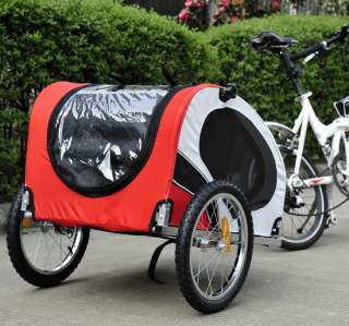 New Pet Dog Bike Bicyble Trailer Cat Carrier W/Bicycle Hitch