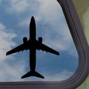 Boeing 737 800 Jet Airliner Black Decal Window Sticker