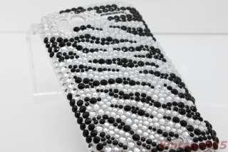 HTC Sensation 4G G14 Bling Animal Print Zebra Rhinestone Back Skin