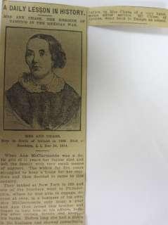 ANN CHASE MEXICAN AMERICAN WAR HERO CIRCA 1850 BAILEY SILVER