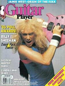 Guitar Player Magazine December 1986 Billy Sheehan