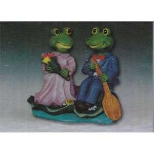 Frogs Boy / Girl with Paddle on a Lilly Pad Scene: Kitchen & Dining